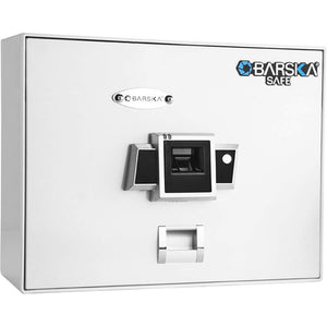 BARSKA OPTICS BIOMETRIC SAFE TOP OPENING, BX-200, WHITE