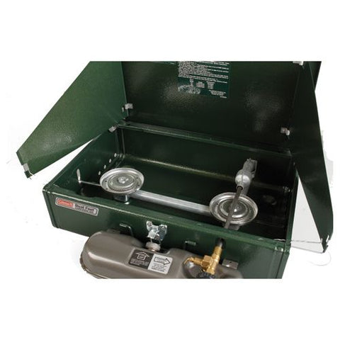 Image of COLEMAN 2 BURNER DUAL FUEL STOVE