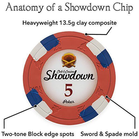 750CT CLAYSMITH GAMING SHOWDOWN CHIP SET IN MAHOGANY