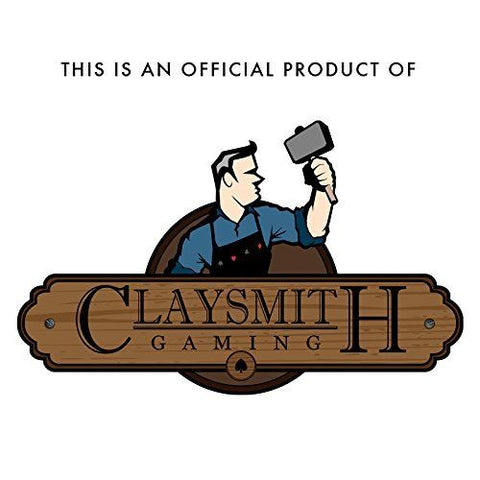 CLAYSMITH 1000ct POKER CHIP SET.