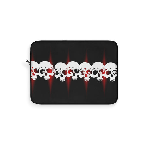 Laptop Sleeve skulls with red