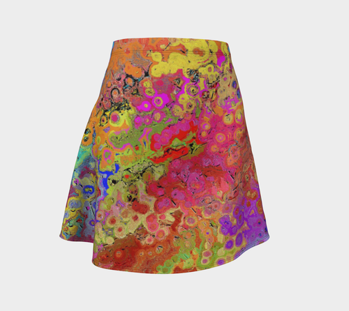 Flare skirt Colorful abstract