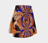 Flare skirt Pattern purple/peach