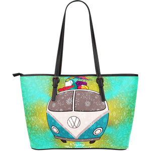 Large leather tote bag vw