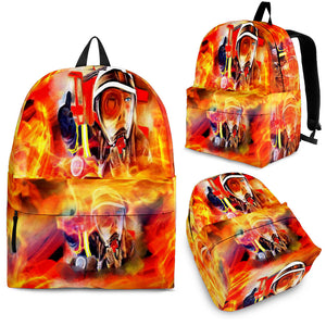 Backpacks Fireman flames 2