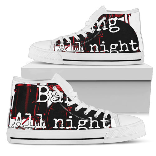 Men's high Top Shoes Drummers bang wh