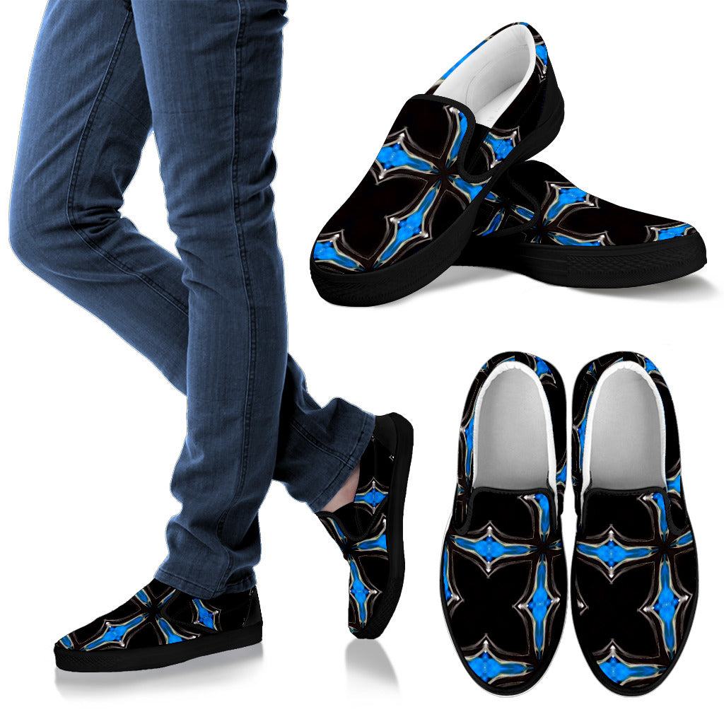 mens Slipons shoes Blu/black