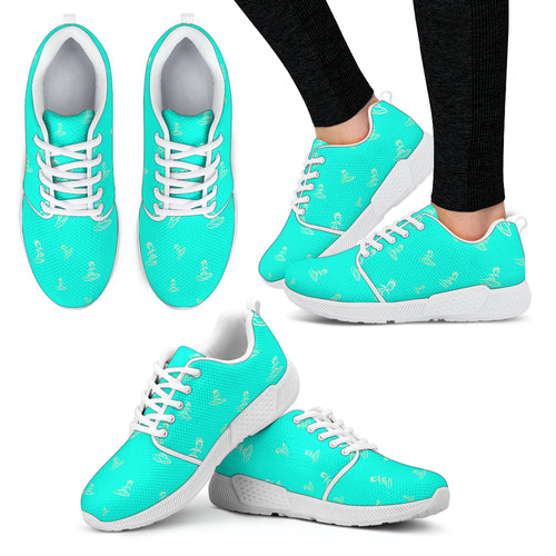 Womens athlectic shoes surfer teal