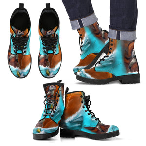 Men's leather boots Fisherman leather