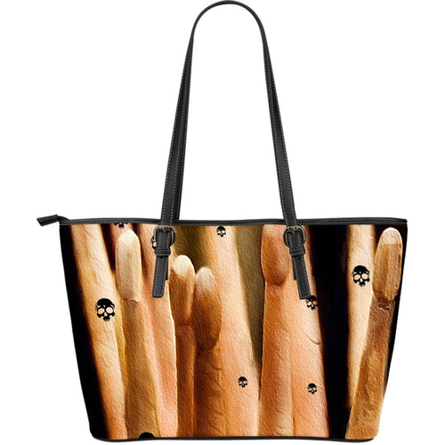 Large leather tote bag drummers licks Rhythm Wear 65