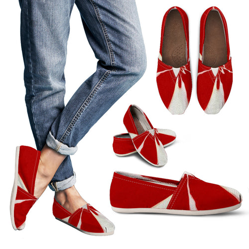 womens Casual shoes Red/white