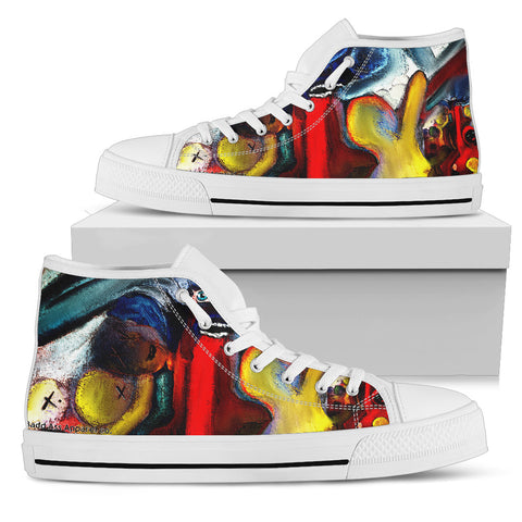 Women's high Top Shoes devils play wh