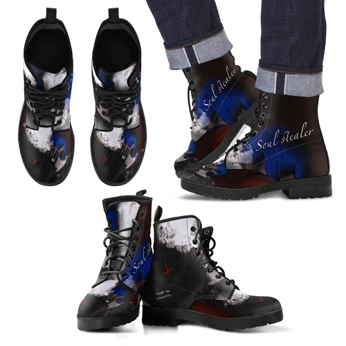 Men's leather boots soul stealer
