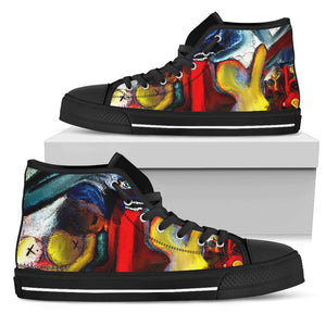Men's high Top Shoes devils play blk
