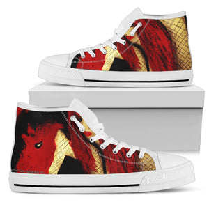 Men's high Top Shoes Dragon girl wh