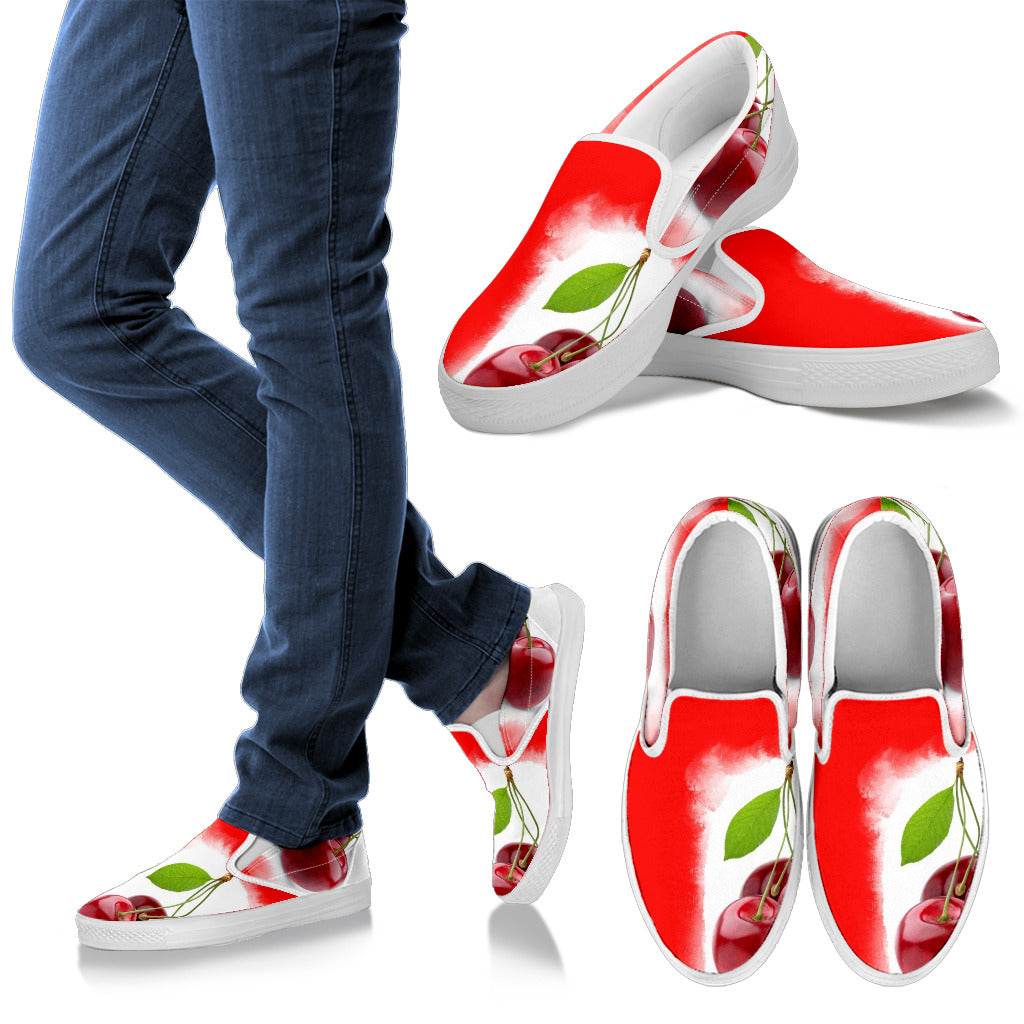 Women Slipons Cherry
