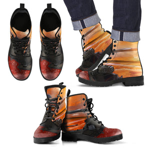 Men's leather boots Military helicopter in color m leather