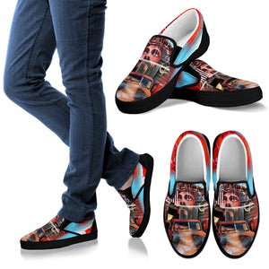 Men slipon shoes patriotic