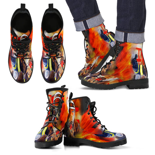 Men's leather boots Fireman leather