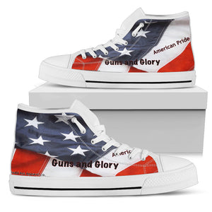 Men's high Top Shoes guns and glory wh