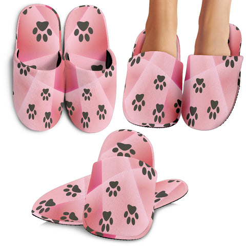 "Slippers Pink ""puppers"""