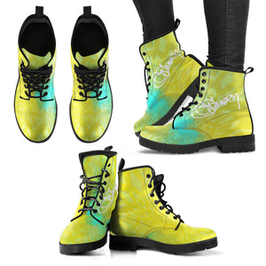 womens leather boots yellow 3 leather