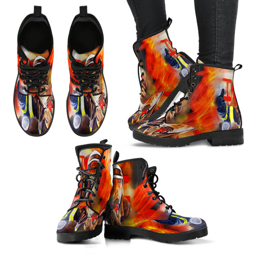Women's leather boots Fireman leather