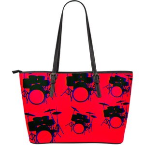 Large leather tote bag drummers licks Rhythm Wear 8