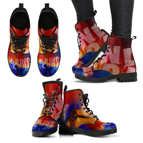 Women's leather boots Grindcore