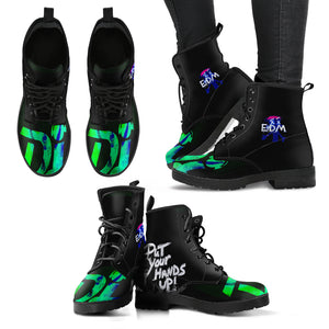 Women's leather boots raver dj