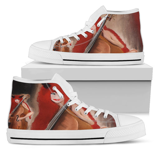 Women's high Top Shoes devil and bass