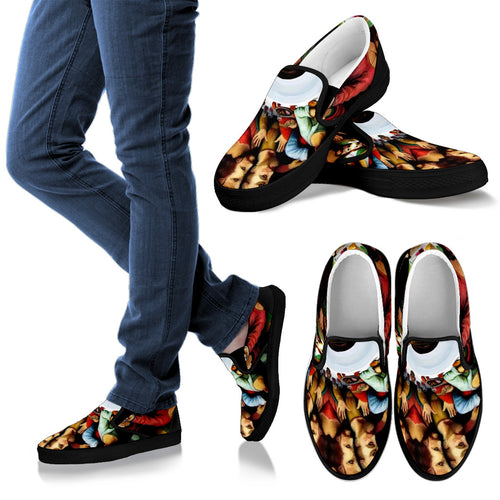 Men's slipons shoes Jesus last supper