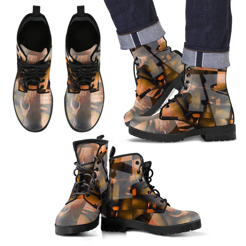Mens leather boots drummers licks 1ww leather