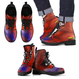 Men's leather boots Abstract mini women