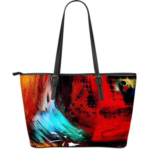 Large leather tote bag wind cries mary