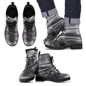 Men's leather boots Military helicopter leather