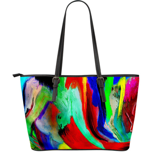 Large leather tote bag intoxicated