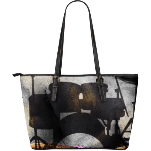 Large leather tote bag drummers licks Rhythm Wear 47