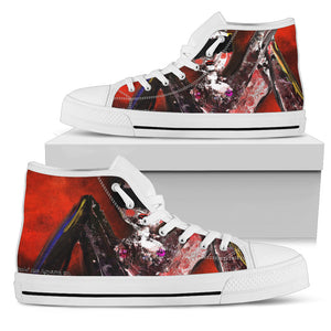 Men's high Top Shoes blindfold girl wh