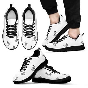 Mens sneakers surfer b/w