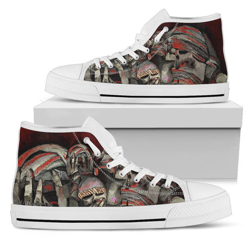 Women's high Top Shoes see no evil wh