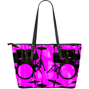 Large leather tote bag drummers licks Rhythm Wear 38