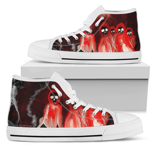 Men's high Top Shoes Skull wh