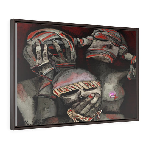 Horizontal Framed Premium Gallery Wrap Canvas see no evil