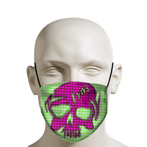 Mask green and pink skull