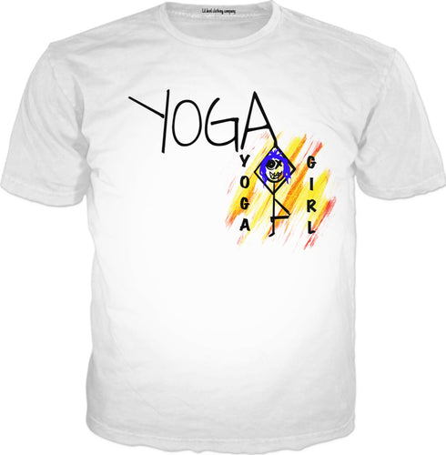 T-shirts Yoga Girl
