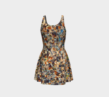 Women's dresses Flare dress Abstract faces