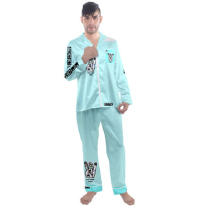 Men's pj/ anarchy/ c0ffff Men's Long Sleeve Satin Pyjamas Set