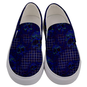 Men's slipons blue cool