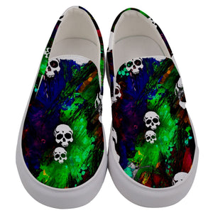 Men's slipon multi color with skulls